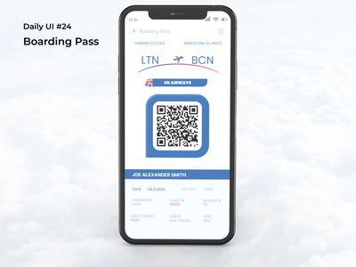 #dailyui #24 boarding pass uidesign figma app ui design dailyui