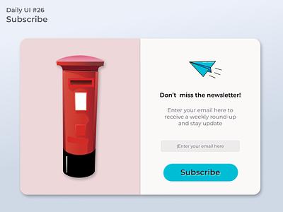 #dailyui #26 Subscribe ui design app design webdesign uidesign figma app ui design dailyui
