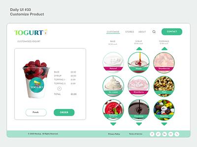 #dailyui #33 Customize Product accessibility user-friendly appdesign webdesign uidesign dailyui