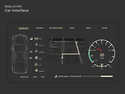 #dailyui #34 Car Interface webdesign figma appdesign uidesign ui design dailyui