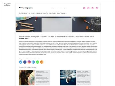 Daily UI  35 Blog Post post blog adobexd webdesign uidesign design dailyui