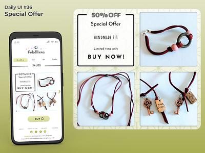#dailyui #36 Special Offer crafts shop special offer appdesign webdesign uidesign figma dailyui