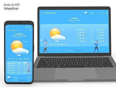 #dailyui #37 Weather app design weather forecast weather app webdesign uidesign figma ui design dailyui
