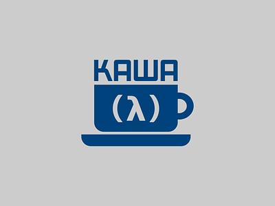 Kawa logo flat typography minimal illustraion design branding vector logotype geometric art logo