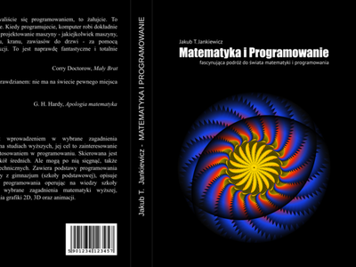 Math and Programming Book Cover typography design illustration geometric art