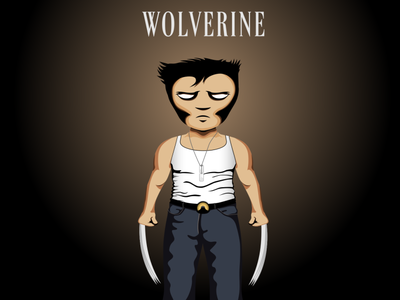 Wolverine vector illustraion