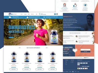 OmniBiotics Landing Page shopify ecommerce website