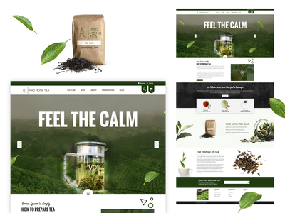Tea Shopping Homepage eCommerce Bootstrap4 Template