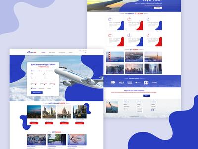 FlightGo Ticket Booking Website UI