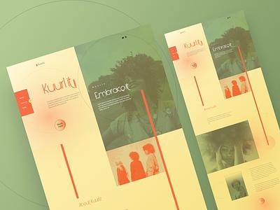 Kuurlz - Web Design branding ui typography design web