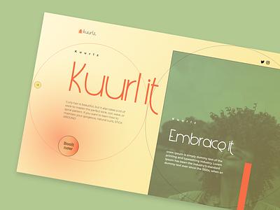 Kuurlz - Web Design webdesign branding ui design typography