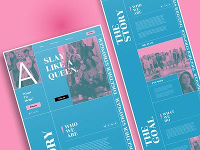 A. women fashion blue pink webdesign design ui branding typography