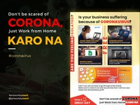 Don't be scared of corona, just work from home karo na.