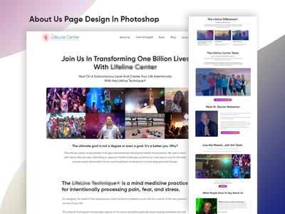 Website Redesigning in Photoshop