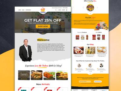 Love me tindera website PSD design