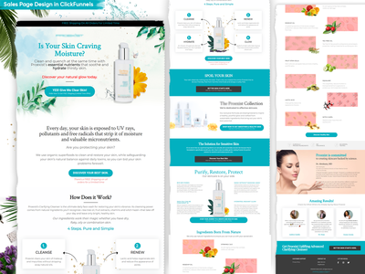 Skin Care Product Sales Page
