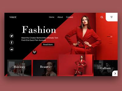 Vogue flat layout typography illustration design website web ux ui