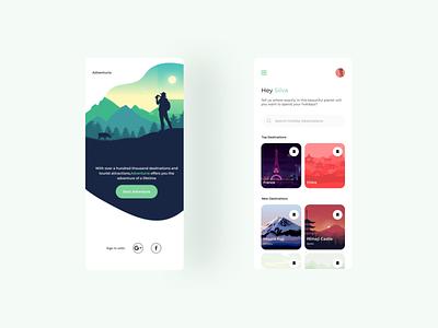 Daily UI Challenge Day 22 - Search App search travel mobile explore design mobile ui dailyui dailyuichallenge app design ux ui