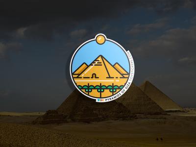 Pyramids of Giza Badge
