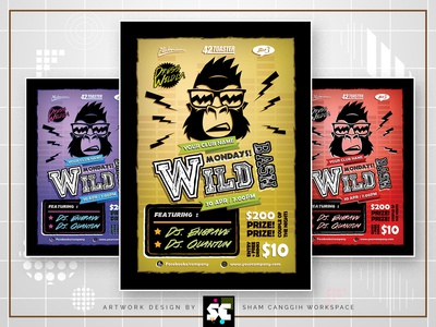 Wild Bash Party Flyer