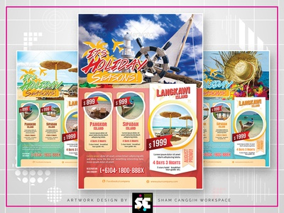Holiday Travel Flyer / Magazine Ads