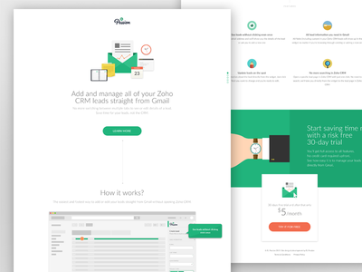 Landing Page landing page single page flat design ui desing ux design interface webdesign features call to cation pricing plan icons illustrations