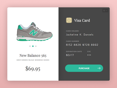 Credit Card Checkout - Daily UI #002 modal widget webdesign shop store shopping cart checkout ux design ui design dailyui