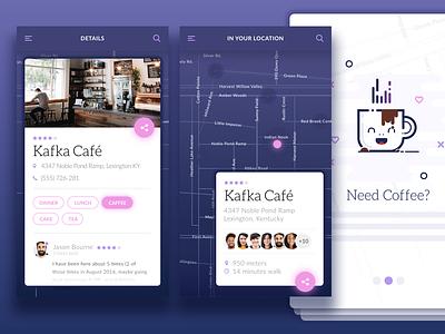 Mobile App rating review illustartion interface ux ui design users social onboarding map app mobile