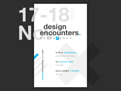 Design Encounters Conference app mobile smashing magazine tickets typography warsaw event conference development ux design ui design poster