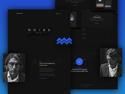 Portfolio Template theme template single page showcase portfolio minimal landing page home page form contact clean about