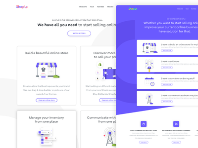 Features 📦 & Get Started 🚀 Pages web header ux ui store shop ecommerce illustration tour features landing page website
