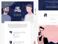 App Loads Landing Page blue pink mailing webdesign shapes singlepage onepage uidesign podcast landingpage illustration website