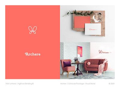 Archere - Visual Brand branding visual identity visual brand symbol minimal logo icon flat design butterfly logo