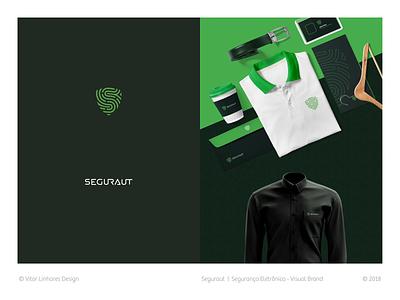 Seguraut - Visual Brand simple shield logo branding visual identity visual brand symbol minimal logo flat design