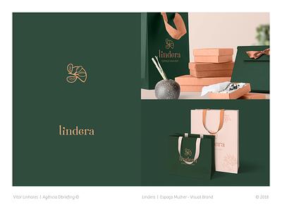 Lindera - Visual Brand simple branding fashion logo clothing store logo visual identity visual brand illustration symbol logo design