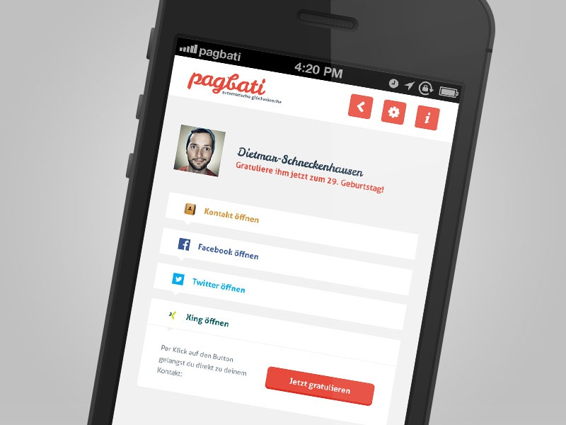 Pagbati kontakt