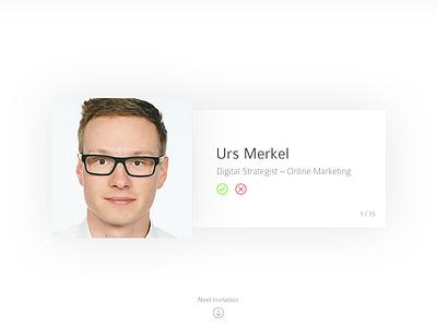 #078 | Pending Invitation invitation pending daily dailyui app ui challenge clean interface