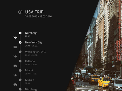 #079 | Itinerary usa travel itinerary daily dailyui app ui challenge clean interface