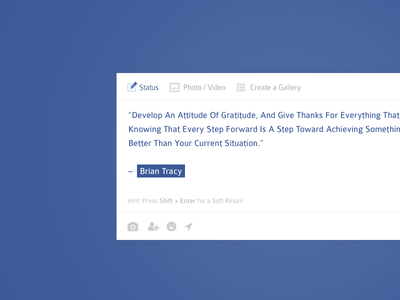 #081 | Status Update facebook update status daily dailyui app ui challenge clean interface