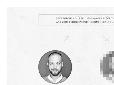 #088 | Avatar algorithm avatar daily dailyui app ui challenge clean interface