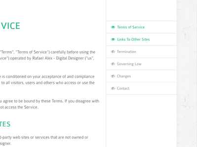 #089 | Terms Of Service service of terms daily dailyui app ui challenge clean interface