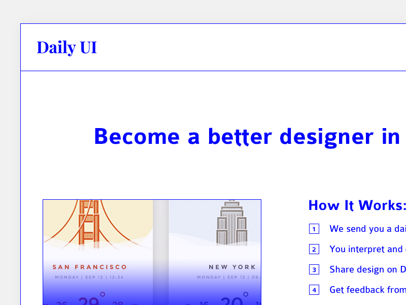 100   redesign daily ui landing page