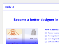 #100 | Redesign Daily Ui Landing Page