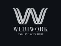 WebiWork Monogram 3D Logo
