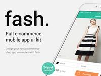 Fash. Mobile eCommerce App UI Kit