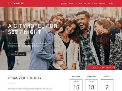 City Hotel Variation Design vacation city vacation rome city hostel motel hotel modern website