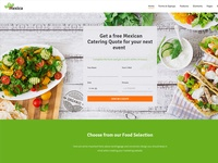 Food & Catering Landing Page - LeadX