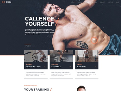 Gym X - Fitness, Gym & Sports WordPress Theme yoga sports sport club personal trainer health gym theme gym fitness gym fitness center fitness crossfit body building