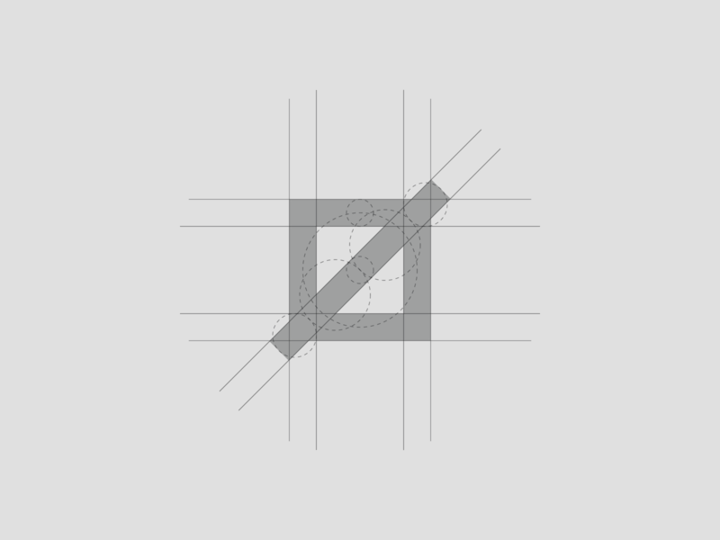 Personal Brand - Logo Grid marca brand symbol vector grid logo logo design golden ratio grid logo