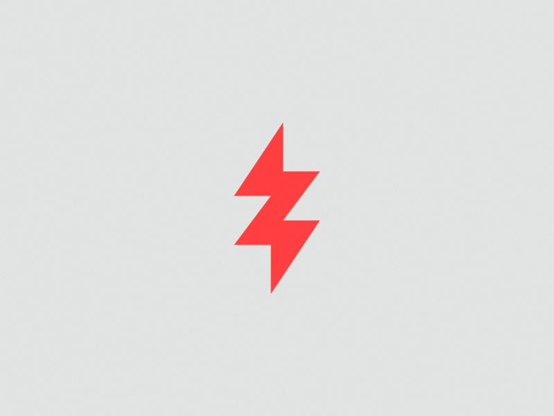 Z  letter + lightning - Logo concept logotype illustration logotipo symbol design vector logo